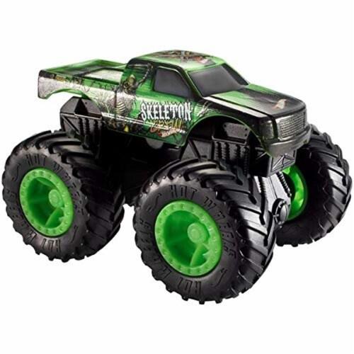 Hot Wheels Monster Trucks - Rev Tredz Skeleton Crew Vehicle Perspective: front