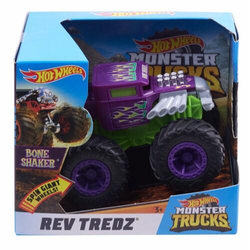 Hot Wheels Monster Trucks - Rev Tredz Bone Shaker Vehicle Perspective: front