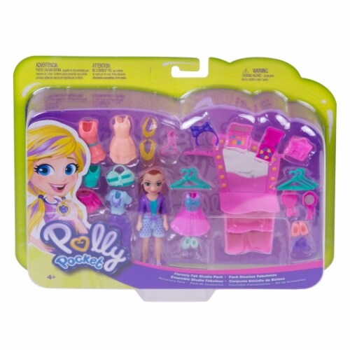 Mattel Polly Pocket Fiercely Fab Studio Pack Doll & Accessories Perspective: front