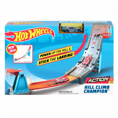 Mattel Hot Wheels® Hill Climb Champion Playset Perspective: front