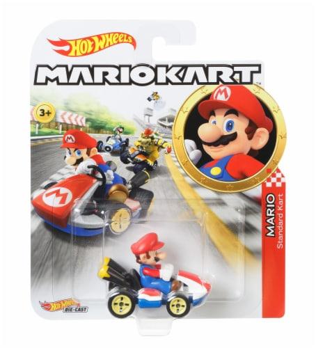 Mattel Hot Wheels Mario Kart Mario Standard Kart Vehicle Perspective: front