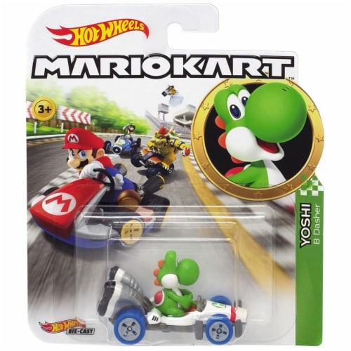 Mattel Hot Wheels® Mario Kart Yoshi B-Dasher Vehicle Perspective: front