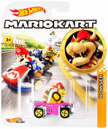 Mattel Hot Wheels® Mario Kart Bowser Badwagon Vehicle Perspective: front