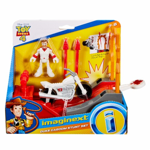 Fisher-Price® Toy Story 4 Duke Caboom Stunt Set Perspective: front
