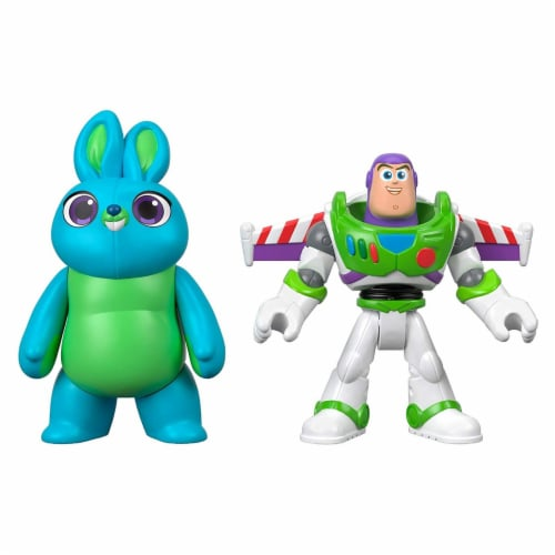 Imaginext® Disney Pixar Toy Story 4 Bunny and Buzz Lightyear Figures Perspective: front