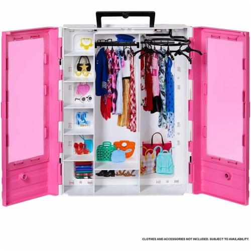 Barbie Fashionistas Ultimate Closet Portable Fashion Toy for 3 to 8 Year Olds Perspective: front