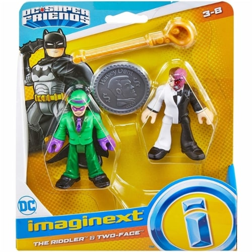 Fisher-Price® Imaginext DC Super Friends - The Riddler and Two Face Figures Perspective: front