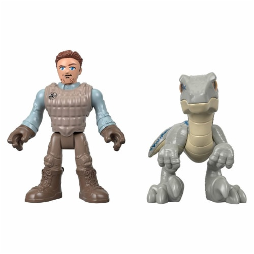 Fisher-Price® Imaginext® Jurassic World Owen & Blue the Velociraptor Action Figure Set Perspective: front