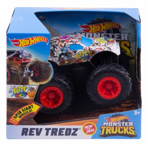 Hot Wheels Rev Tredz - Potty Central Monster Truck Perspective: front