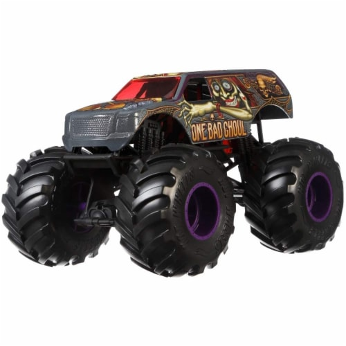 Mattel Hot Wheels® Monster Trucks One Bad Ghoul Vehicle Perspective: front