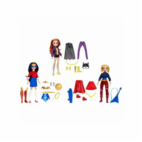 Mattel DC Comics Super Hero Girls Teen Life Assorted Figure, Pack of 4 Perspective: front
