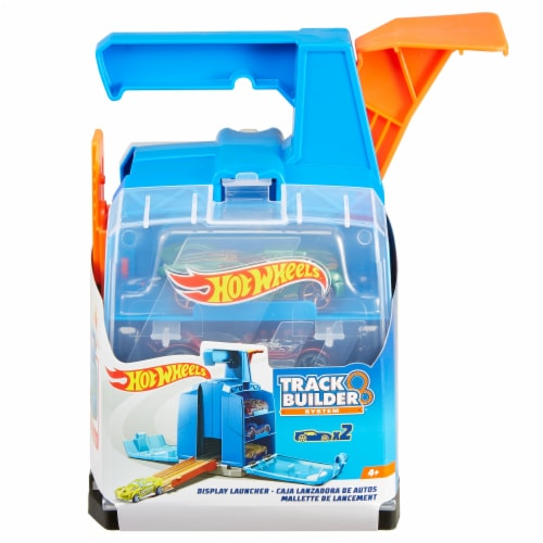Mattel Hot Wheels® Track Builder Display Launcher - Blue/Orange Perspective: front