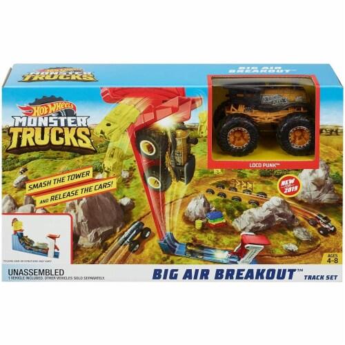 Mattel Hot Wheels® Monster Trucks Big Air Breakout Playset Perspective: front