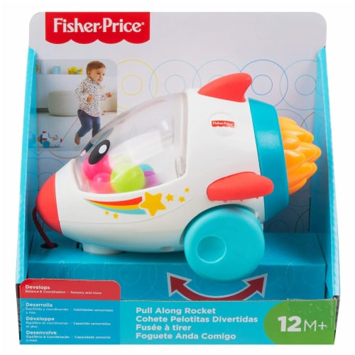 Fisher-Price® Pull Along Rocket Perspective: front