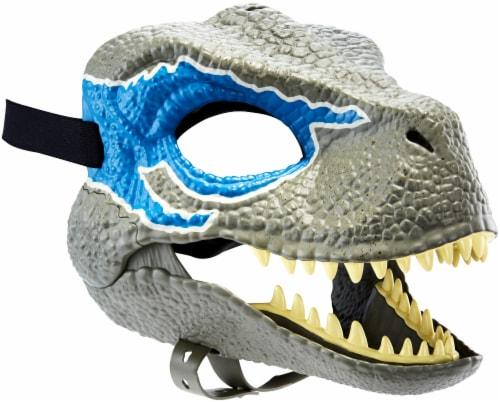 Mattel Jurassic World Velociraptor Camp Cretaceous Mask - Blue Perspective: front