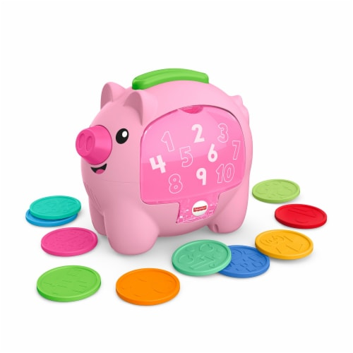 Fisher-Price® Laugh & Learn Rumble and Count Piggy Bank Perspective: front