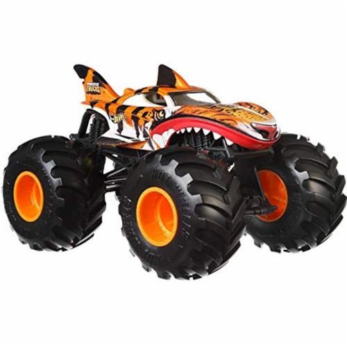 Mattel Hot Wheels® Monster Truck Tiger Shark Vehicle Perspective: front