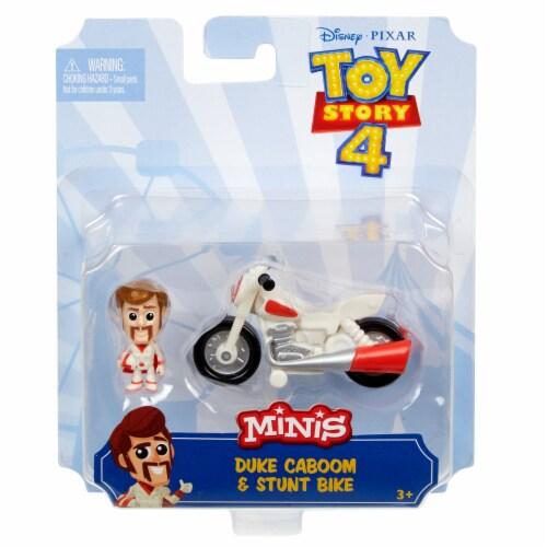 Mattel Disney Pixar Toy Story 4 Mini Duke Caboom and Stunt Bike Perspective: front