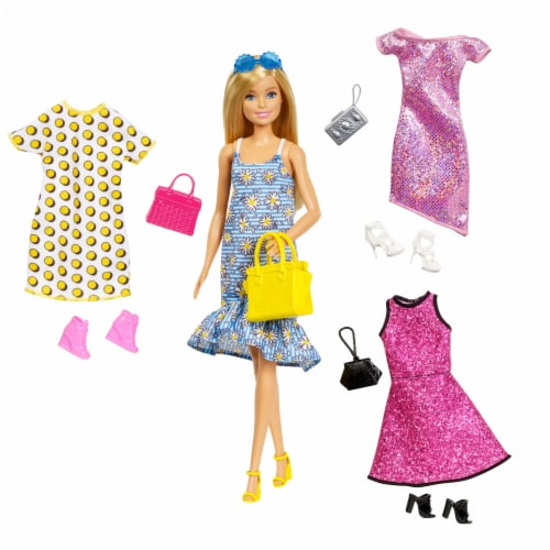 Mattel Barbie® Doll and Accessories Set Perspective: front
