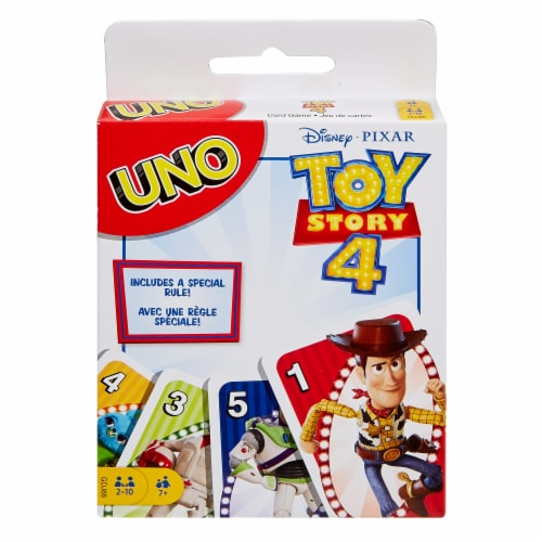 Disney PIXAR Toy Story 4 UNO Card Game Perspective: front