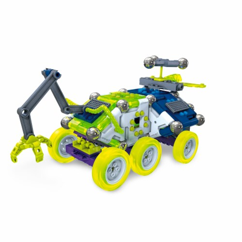 Mega Construx Magnext Rocky Rover 5 In 1 Spaceship Mag Explorers Building Toy Perspective: front