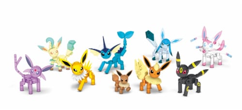 Mattel Mega Construx Pokemon Every Eevee Evolution Building Set Perspective: front