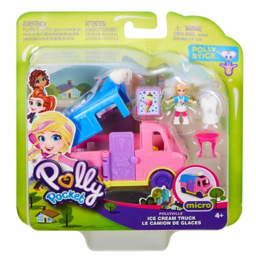 Mattel Polly Pocket Pollyville Ice Cream Truck Perspective: front