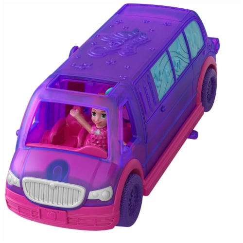 Mattel Polly Pocket Pollyville Party Limo Perspective: front
