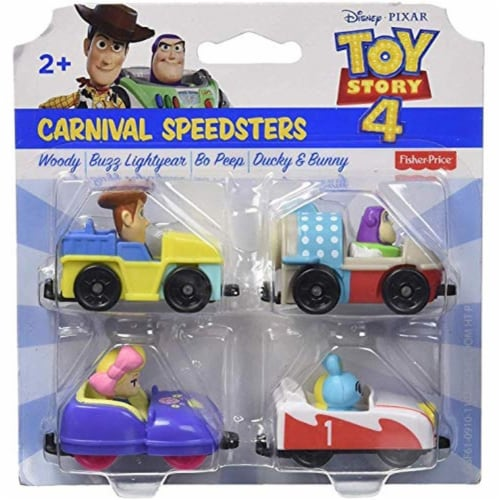 Toy Story Fisher-Price Disney Pixar 4 Carnival Speedsters Perspective: front