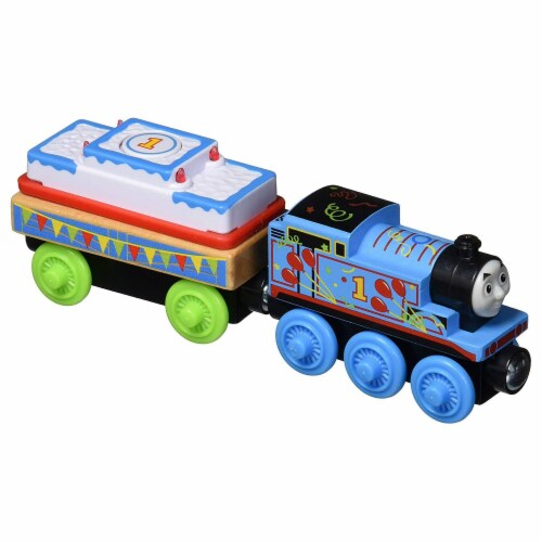 Thomas & Friends Fisher-Price Wood, Birthday Thomas Perspective: front