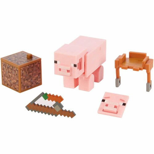 Minecraft Comic Maker Pig Action Figure Perspective: front