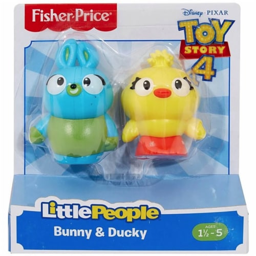 Fisher-Price® Little People Bunny & Ducky Toy Story Action Figures Perspective: front