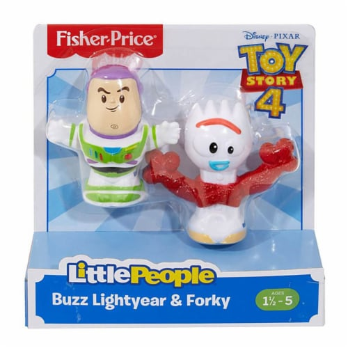 Little People Toy Story Figures -Buzz Lightyear & Forky Perspective: front
