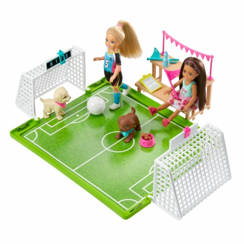 Mattel Barbie® Club Chelsea Soccer Doll Playset Perspective: front