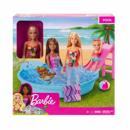 Mattel Barbie® Pool Doll and Playset Perspective: front