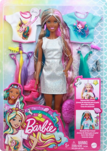 Mattel Barbie® Fantasy Hair Doll Perspective: front