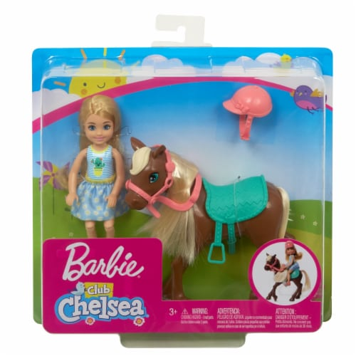 Mattel Barbie® Club Chelsea Doll and Pony Perspective: front