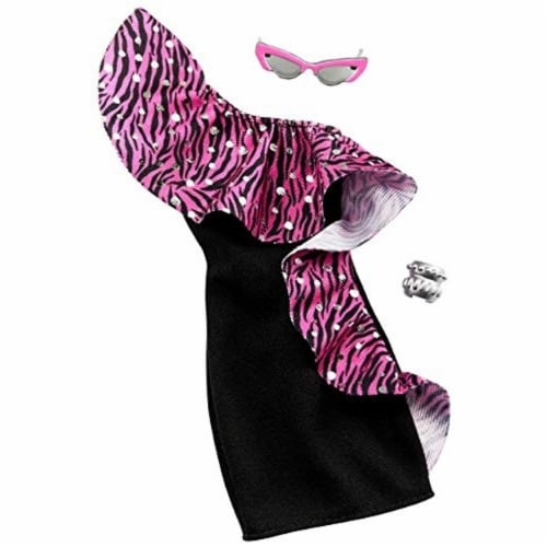 Barbie Dress & Doll Accessories - Pink Leopard Perspective: front