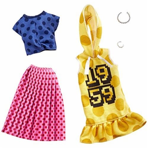 Mattel Barbie® Polka Dot Clothes Playset Perspective: front