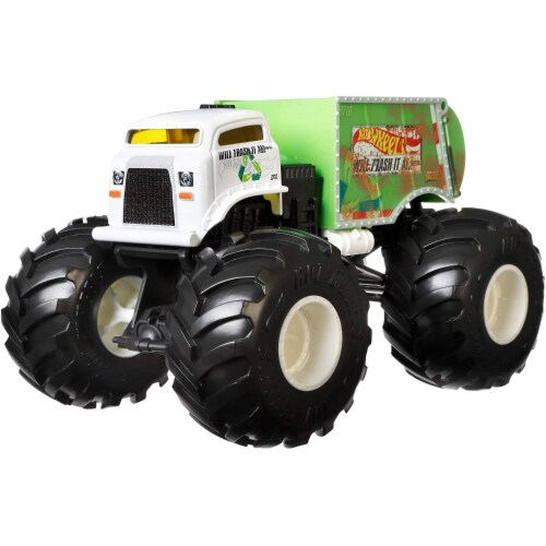 Mattel Hot Wheels® Monster Trucks Will Trash It All Vehicle Perspective: front