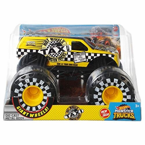 Mattel Hot Wheels® Monster Trucks Taxi Vehicle Perspective: front