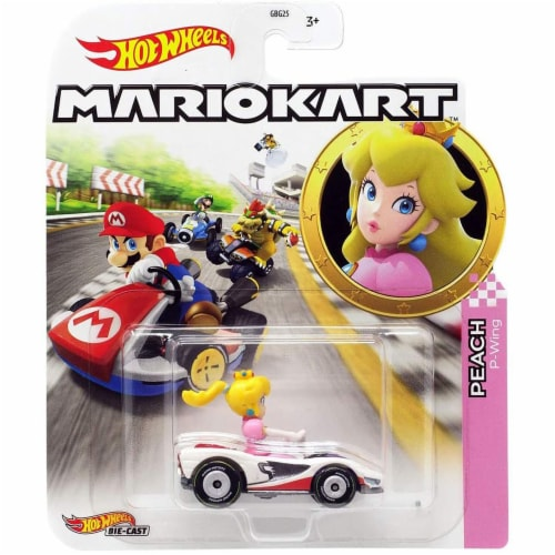 Mattel Hot Wheels® Mario Kart Peach P-Wing Vehicle Perspective: front