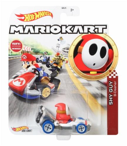 Mattel Hot Wheels® Mario Kart Shy Guy B-Dasher Toy Car Perspective: front