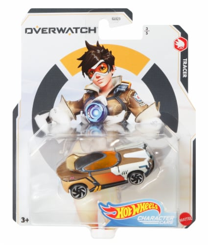 Mattel Hot Wheels® Character Cars Overwatch Tracer Toy Car Perspective: front