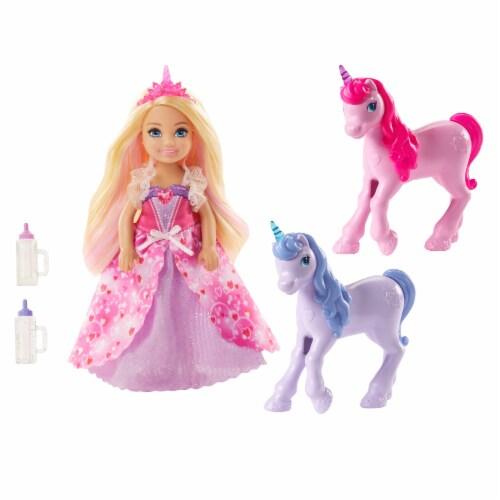 Mattel Barbie® Dreamtopia Doll and Unicorns Perspective: front