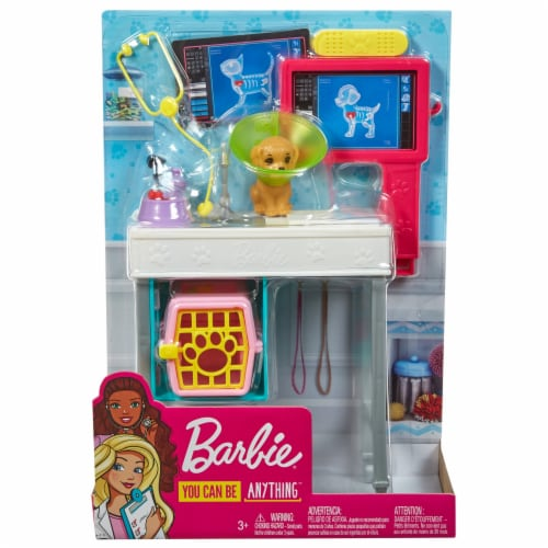 Mattel Barbie® Career Places Pet Vet Office Playset Perspective: front