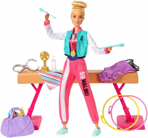 Mattel Barbie® Gymnastics Doll and Accessories Perspective: front