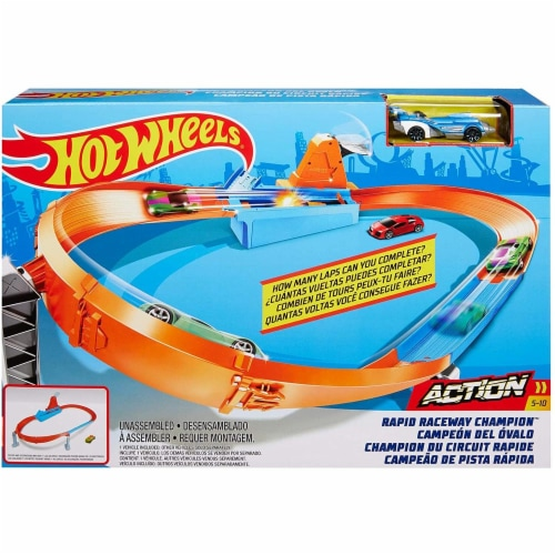 Mattel Hot Wheels® Rapid Raceway Champion Play Set Perspective: front