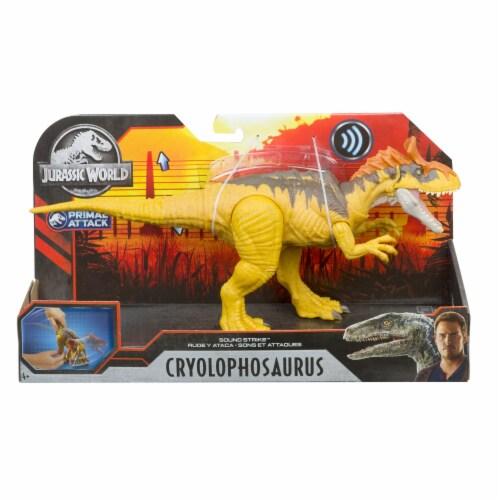 Mattel Jurassic World Sound Strike Cryolophosaurus Action Figure Perspective: front