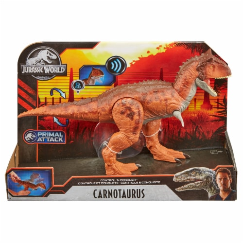 Mattel Jurassic World Control N Conquer Carnotaurus Action Figure Perspective: front